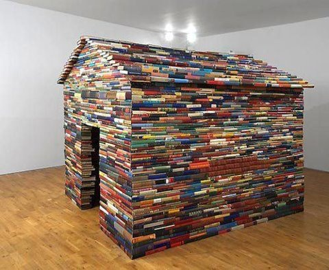 Cool photo from eReaderLove.com: Books Forts, Idea, Modern Art, Books Art, Awesome Books, Dreams House, Books House, Janet Cardiff, Cool Photo
