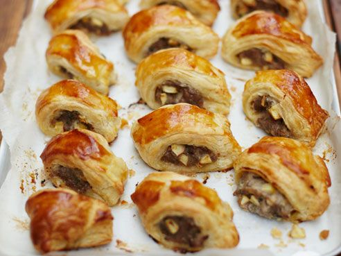 Sausage rolls- Pork sausage mince and apple by Jamie Oliver