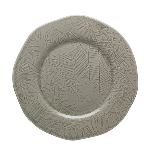 "Tropical Dinner Plate, 11.3"" by Bordallo Pinheiro"
