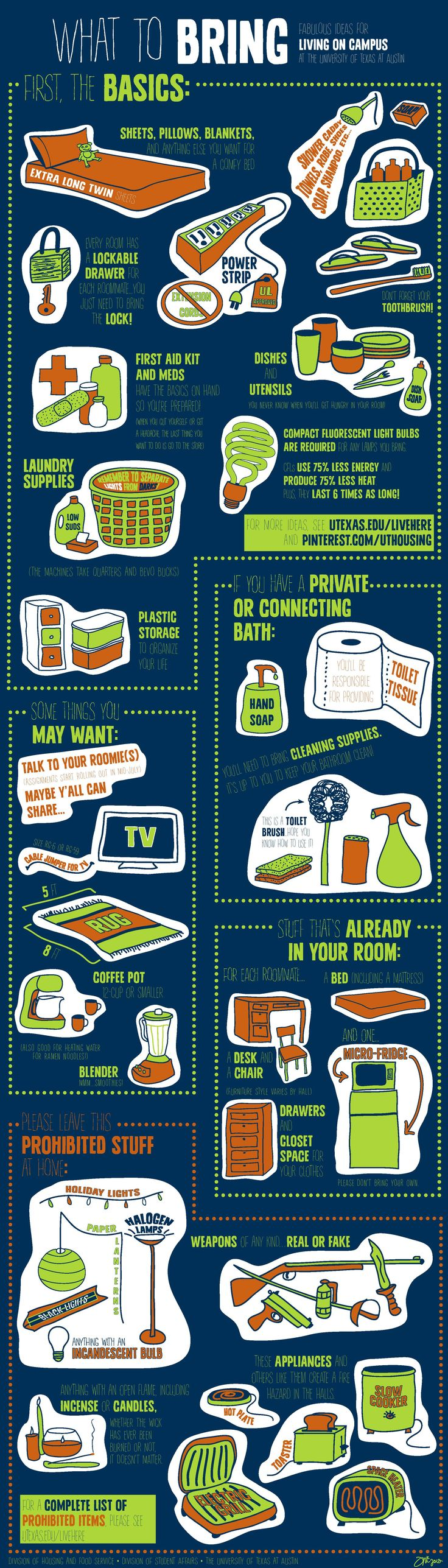 What are you going to bring to your Residence Hall at UT Austin?