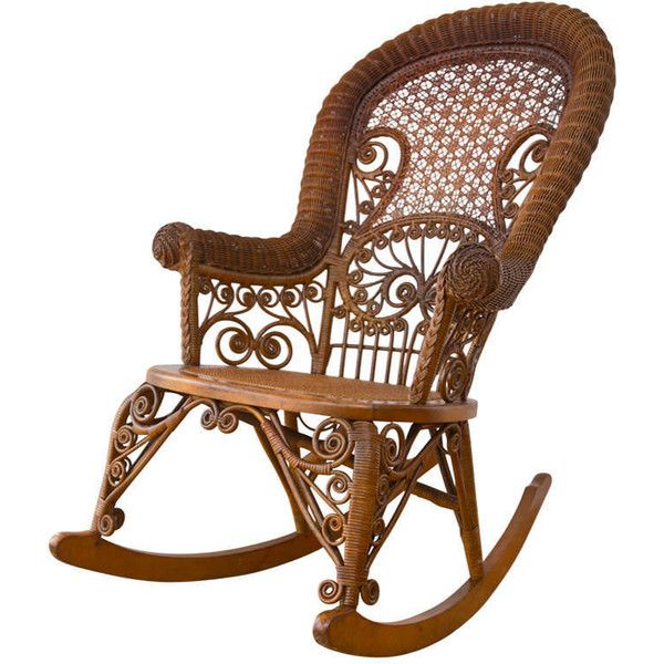 Antique Victorian Wicker Rocker ❤ liked on Polyvore featuring home, furniture, chairs, wicker rocker, wicker rocking chair, wicker chairs, wicker rocker chair and wicker furniture
