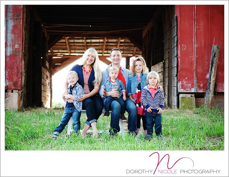 Red barn and wheat field photo shoot