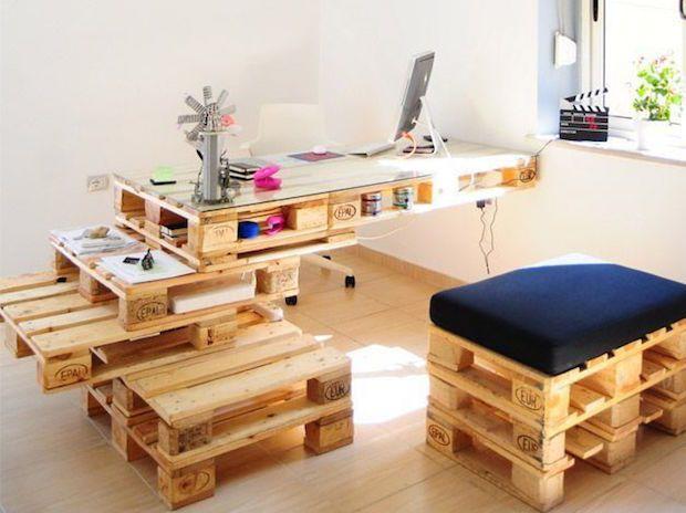 Inspiração de decoração pra casa com pallets de madeira
