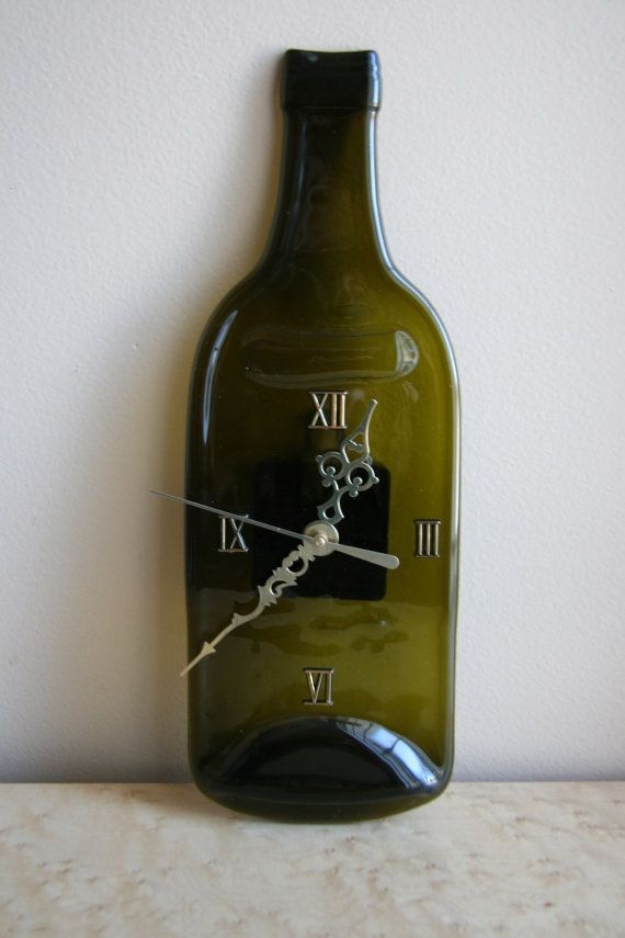 Melted Wine Bottle Clock by JourneytoAsia on Etsy