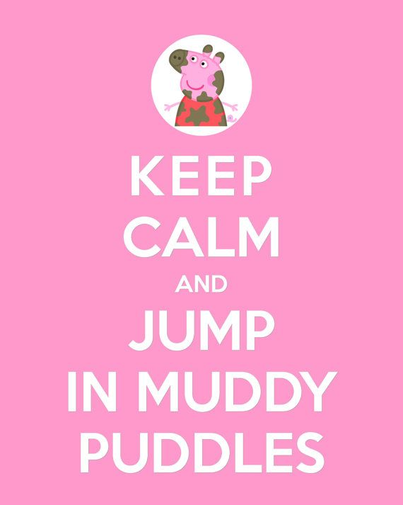 PRINTABLE KEEP CALM Peppa or George Printable 8x10 por ColourMyRoom