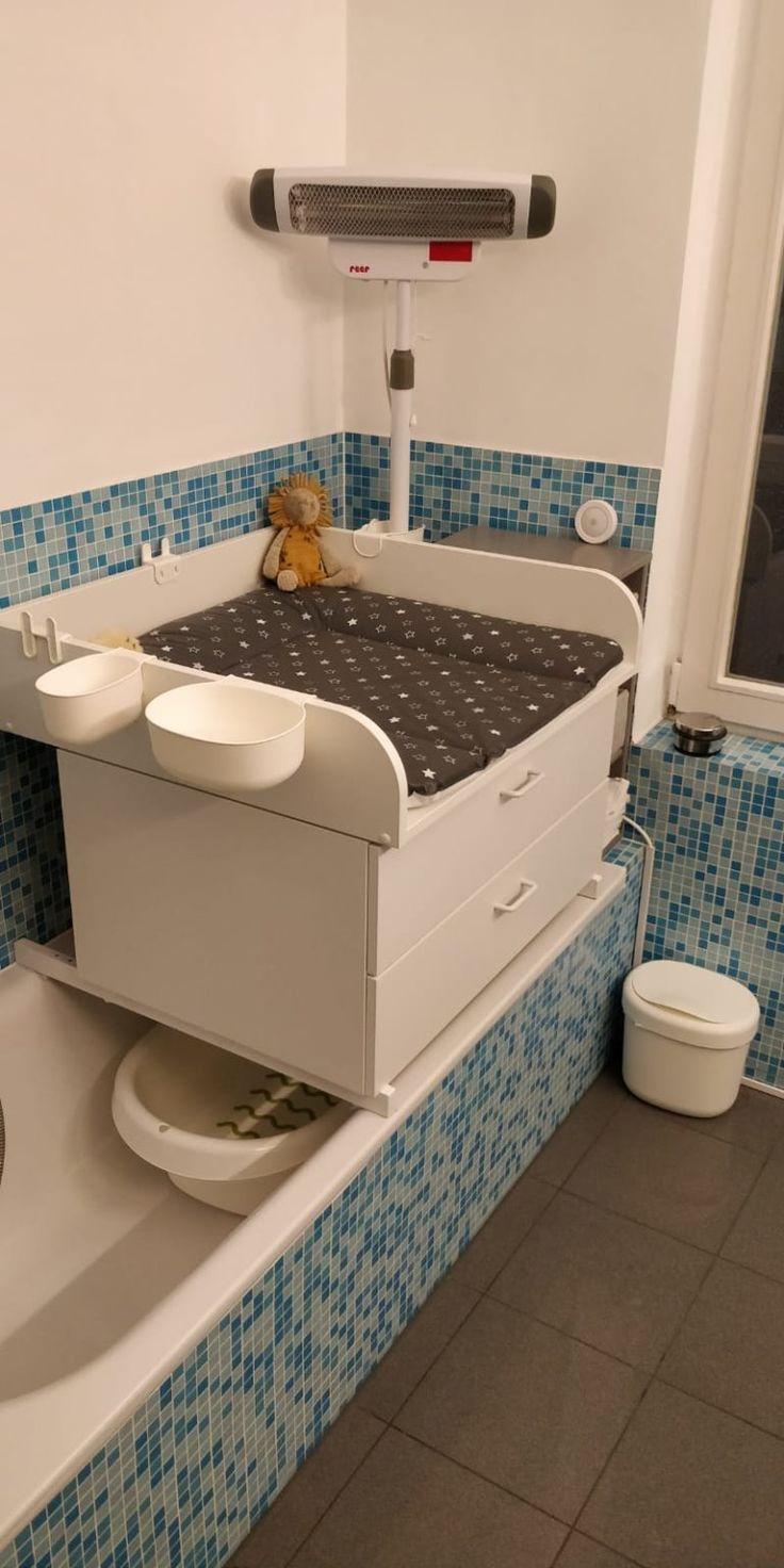 Wickelaufsatz als Badewannenaufsatz für das kleine Bad   mit ...