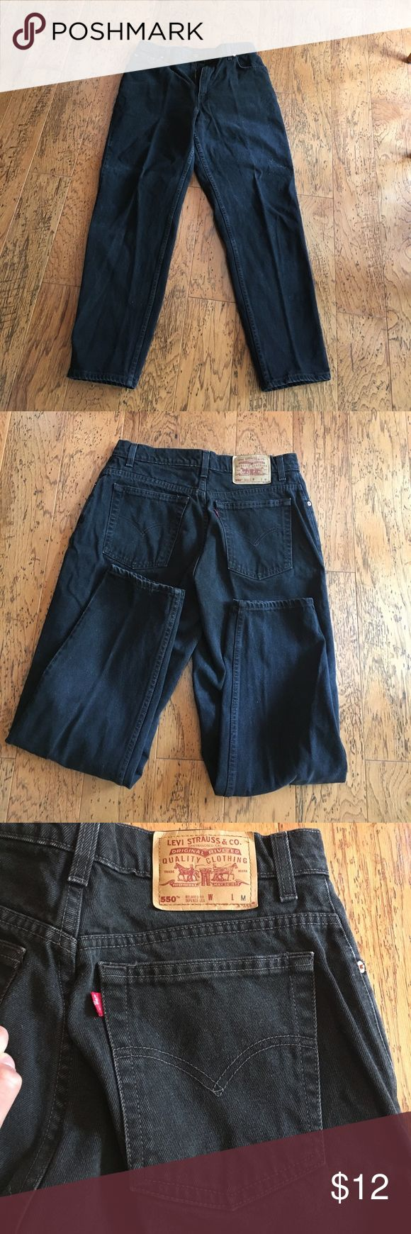 Red Label Black Levi Jeans- RARE In good condition- these red label black Levi's are always in style! As seen in last picture there are a few white specks on one of the pant legs (not noticeable) Levi's Jeans