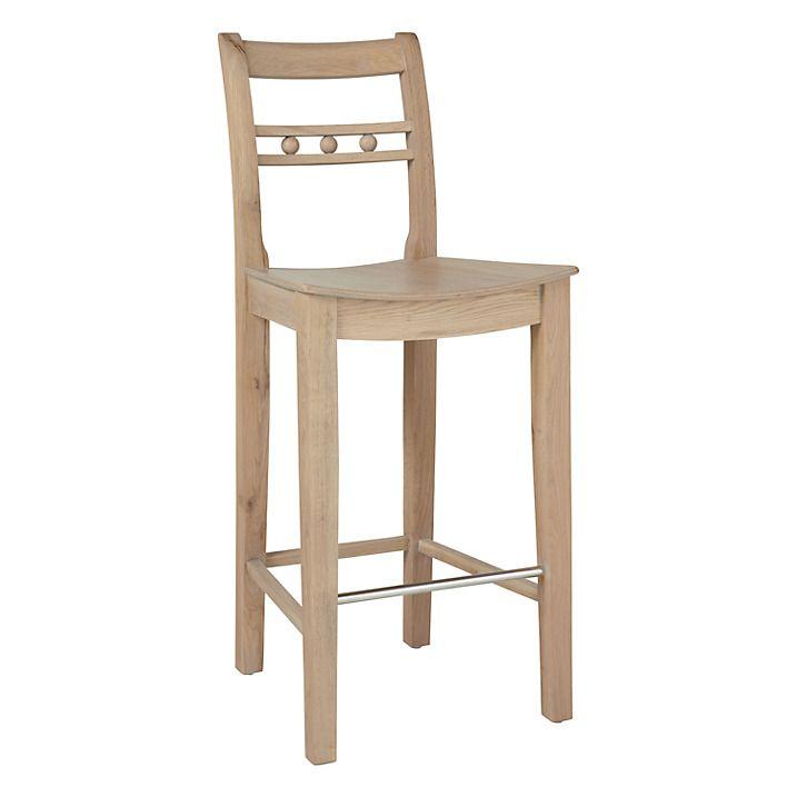 Buy Neptune Suffolk Bar Chair, Seasoned Oak Online at johnlewis.com