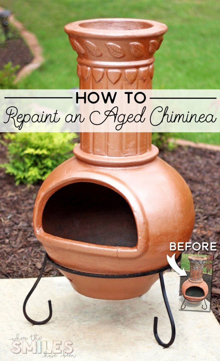 How To Bring An Aged Chiminea Back To Life Chiminea Copper Spray Paint High Heat Paint