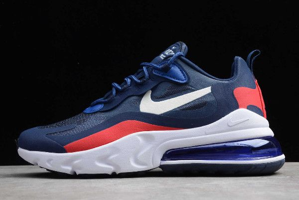 2019 Nike Air Max 270 React Navy BlueWhite Red AT6174 004