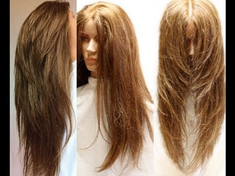 How to Cut Your Own Hair In Long Layers ~ Easy Hair Cut Tutorial - YouTube
