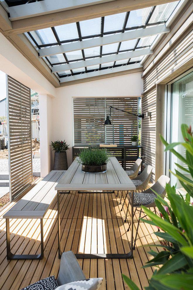 Ökohaus mit Terrasse