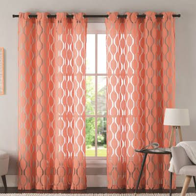 coral curtains - Google Search