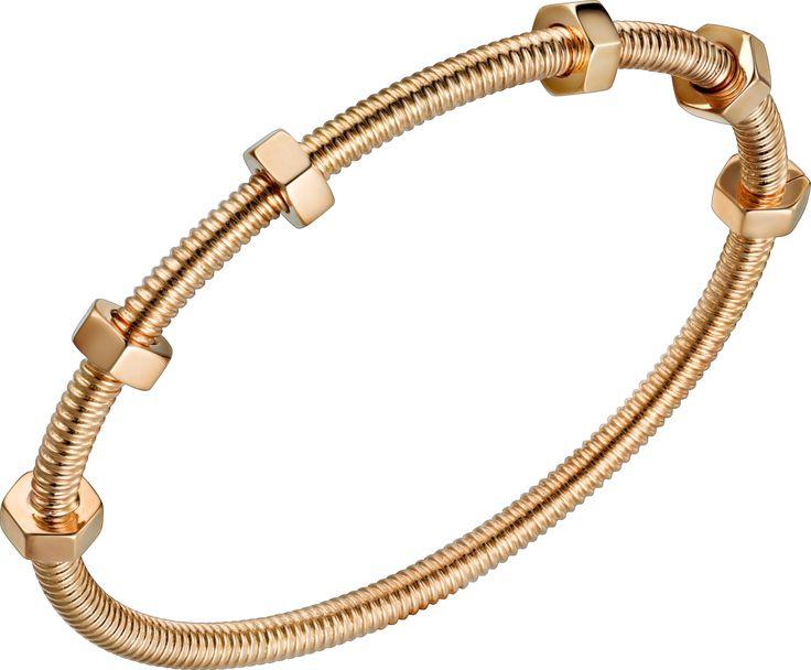 Ecrou de Cartier bracelet Pink gold