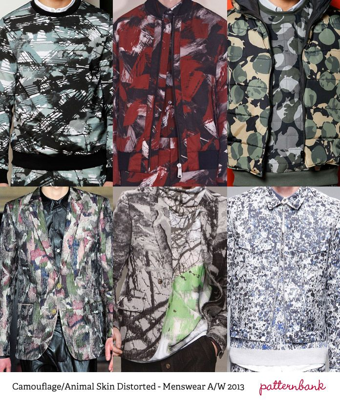 Tendencias de ropa de caballero de impresión - Otoño / Invierno 2013 Parte 2 pasarelas