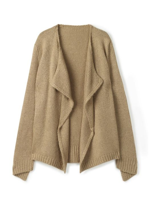 Chunky Waterfall Cardigan in Mixed Colours from hush