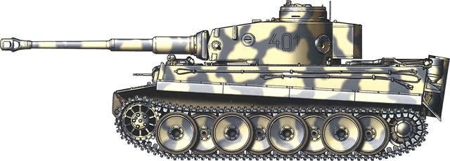 Tiger H/E camouflage patterns - Kharkov, April 1943 1.SS-PzGrenDiv