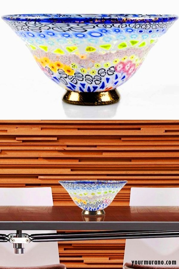 transitional home decor ideas, traditional handmade Murano glass vase. Give a transitional touch to your home with this handmade glass vase!
