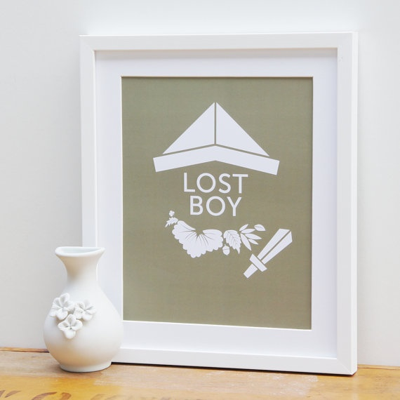 Peter Pan Character Print  One of the Lost Boys by StudioDutches, $26.00