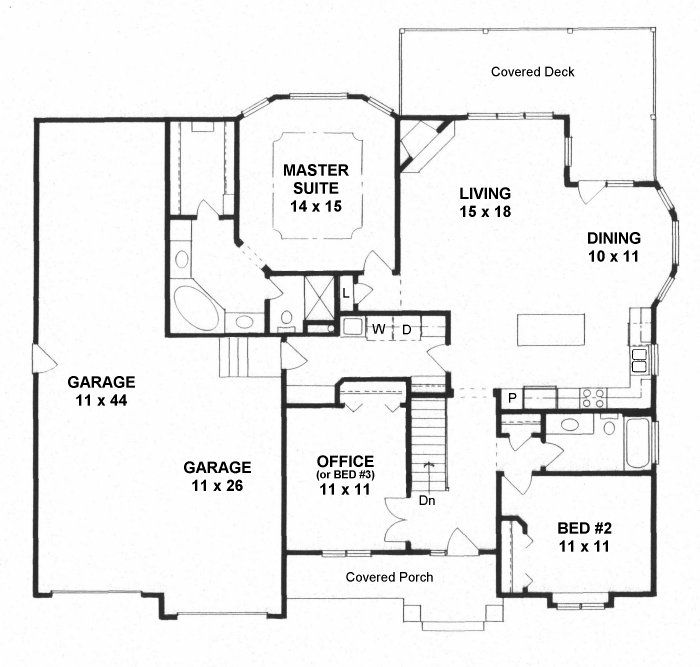 Traditional Style House Plan 62645 With 3 Bed 2 Bath 3 Car Garage Family House Plans House Plans 3 Bedroom New House Plans Traditional style house plan