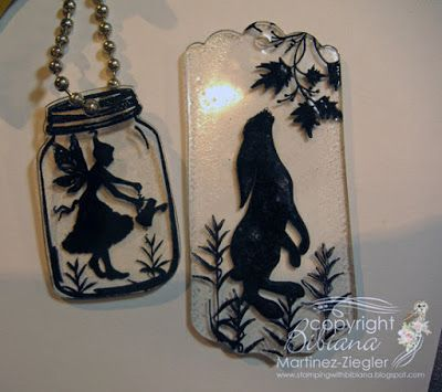 Stamping with Bibiana: Shrink Plastic Key Chains with Lavinia Stamps