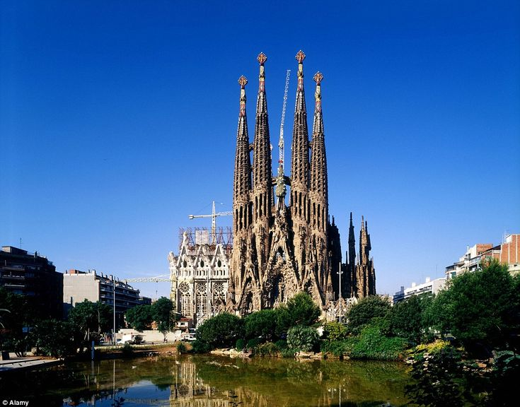 The large Catholic church of the Sagrada Familia in Spain and a stunning piece of architecture for visitors to see, despite being incomplete