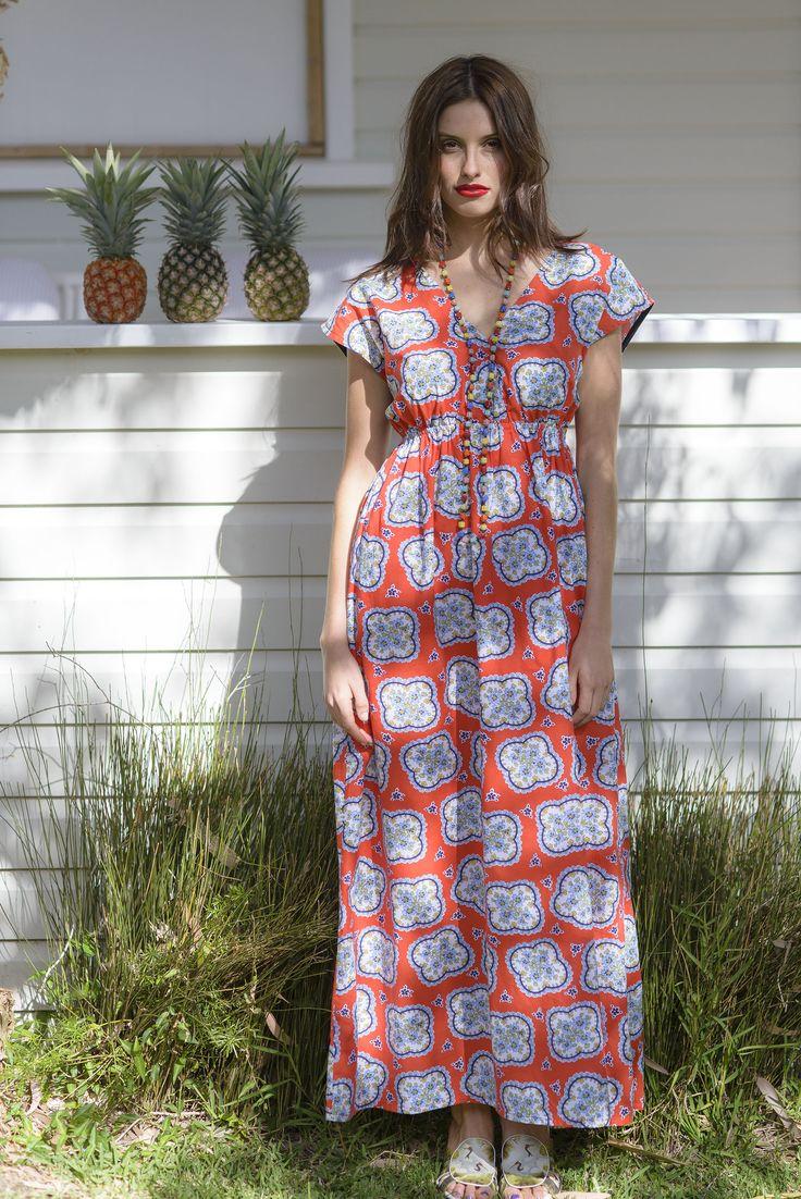Maxi dress in Aloha