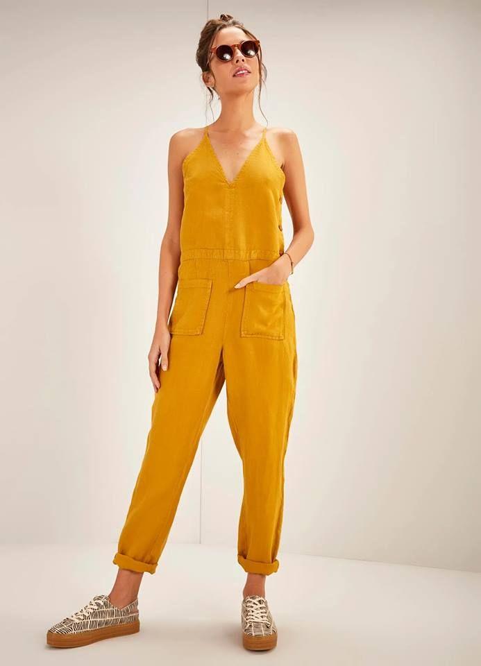 ba4b07a92 Tendências de moda, verão 2019, macacões, look, estilo, mulheres, fashion