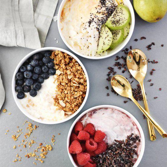 3-Ingredient Yogurt Breakfast Bowls