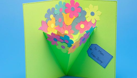 Make this lovely Spring Pop-Up Card and give it to Grandma (or a friend) for Easter!