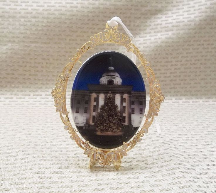 2009 State Of Alabama Sixth Edition Christmas Ornament Governor & Mrs. Bob Riley