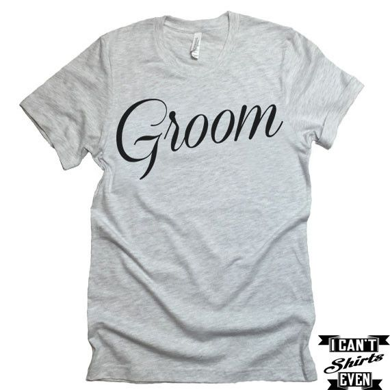 Groom T-shirt.  Bachelor Party Engagement Gift. Wedding Gift Husband to be Shirt