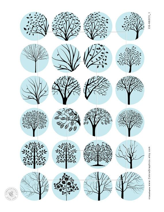 Trees 20mm 18mm 16mm 14mm and 12mm circles by CobraGraphics