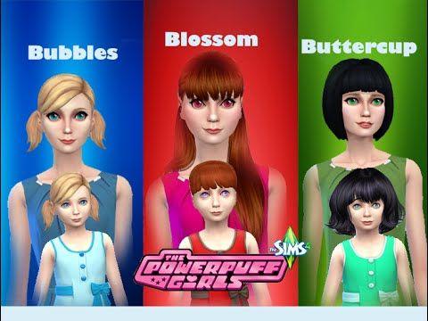 The Sims 4: Create A Sim   Powerpuff Girls - YouTube