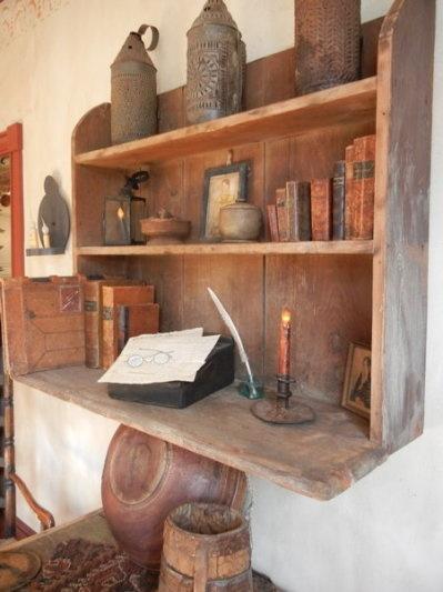 neat old shelf