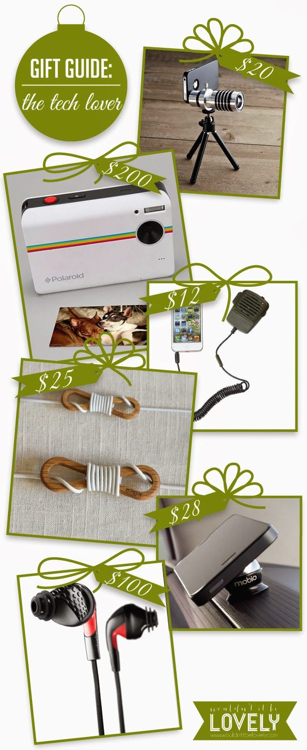 Gift ideas, technology, tech gadgets, gifts for men, gift guide, iPhone and iPad accessory gifts, Wouldn't it be Lovely