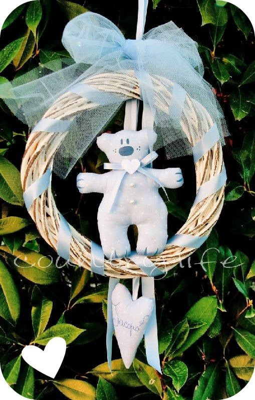 LUCKY BEAR WREATH  ghirlanda orso by veronicacountrylife on Etsy, $44.00