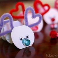 Valentine Love Bug: Dollar store bubbles for nose and tail