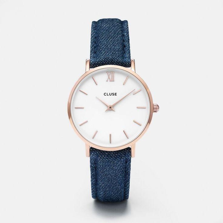 Minuit Rose Gold White/Blue Denim CL30029