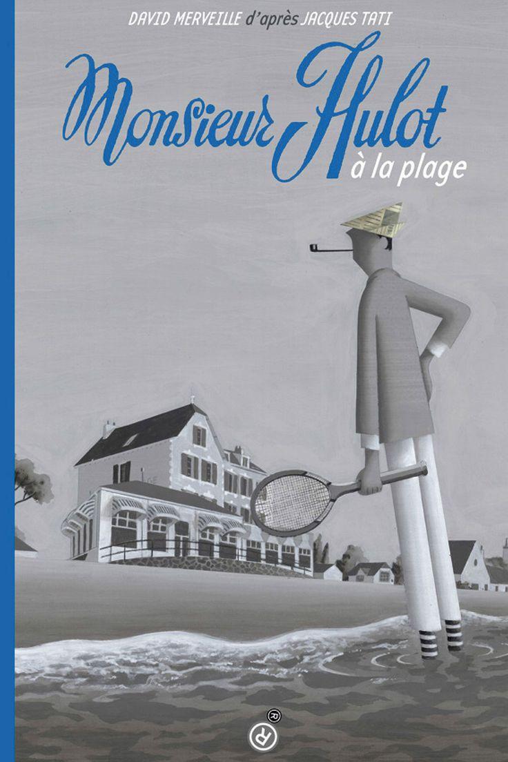 """Livre """"Monsieur Hulot à la plage"""", de David Merveille ☞ Plus de contenu sur www.milkmagazine.net"""