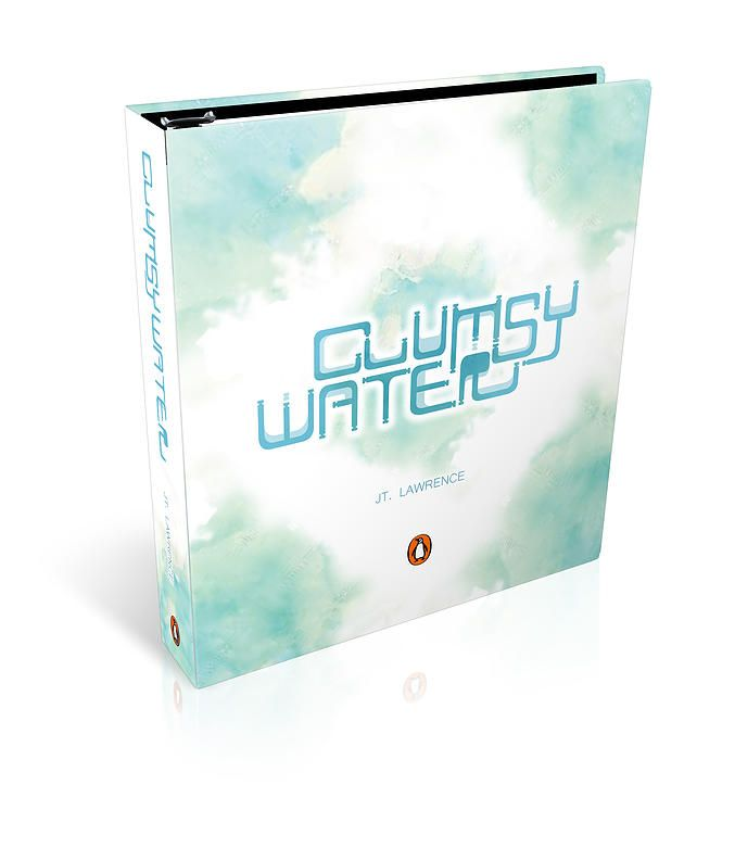 The modular typeface clumsy water in the book cover