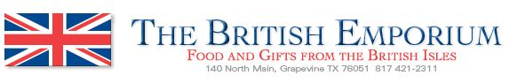 British Emporium sells English groceries and gifts in North Texas: Foods and gifts from Britain, celebrating Monty Python on June 19th