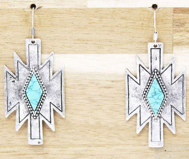 Aztec Earrings $13.99