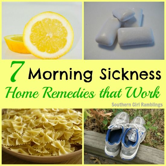7 Morning Sickness Home Remedies that really work! #pregnancy #moms
