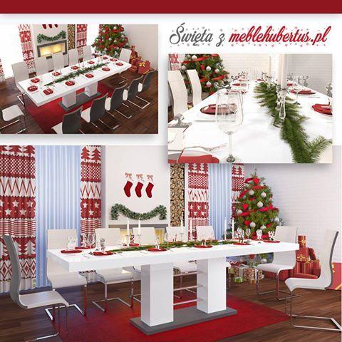 christmas table, świąteczny stół