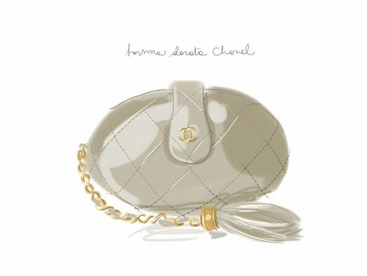 Borsina dorata Chanel.   #fashion #illustration Open Toe - http://opentoemag.wordpress.com/2013/01/25/821/