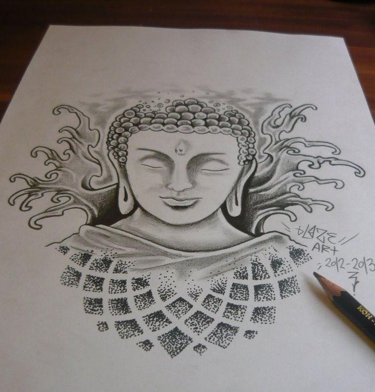 Great idea for a tattoo! Buddha by bLazeovsKy