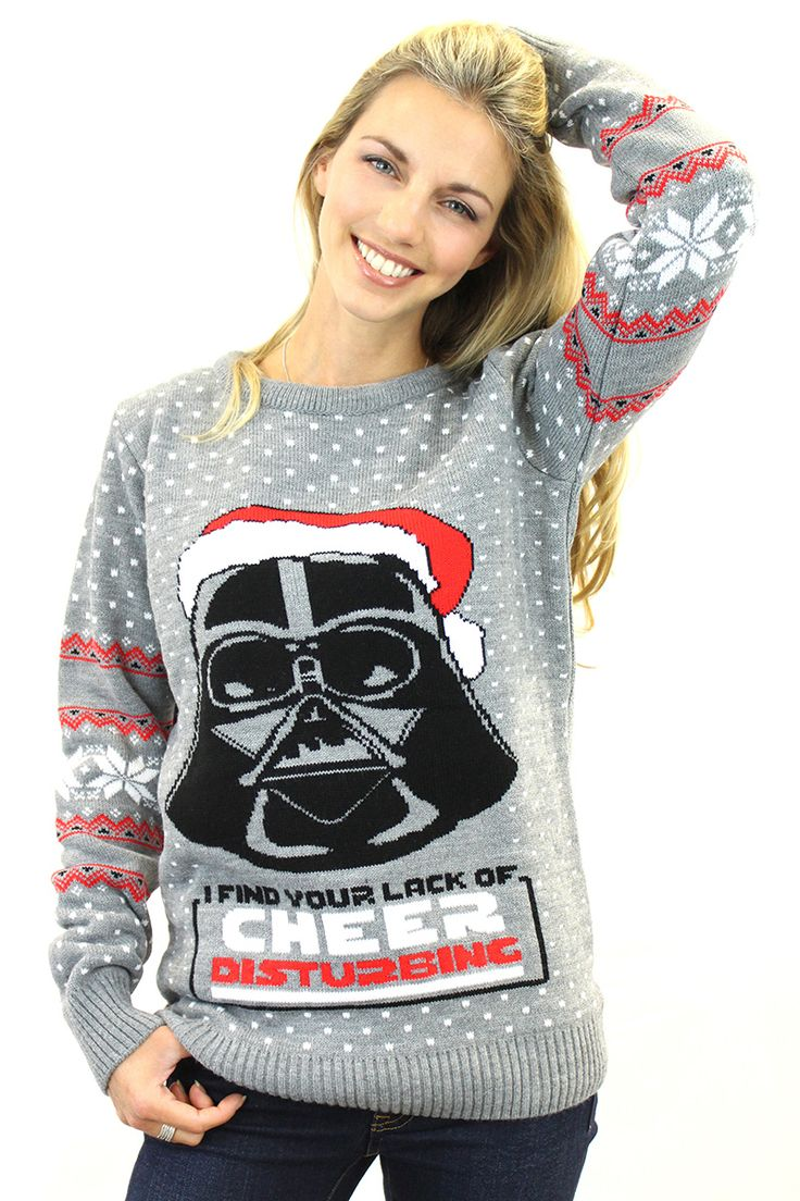 "He's not ""Little Annie"" anymore, he's a badass with an intergalactic death machine. You can get the Sith Lord look with this Official Knitted Star Wars Darth Vader Christmas Jumper, which sports an image of the Chosen One himself, but with the unmistakeable hint of Christmas Cheer."