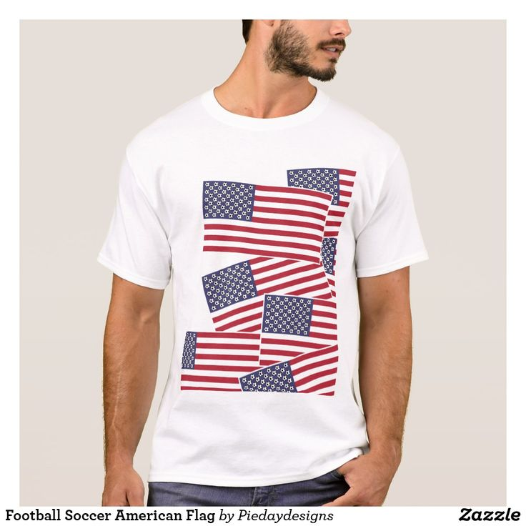 Football Soccer American Flag T-Shirt
