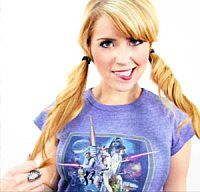 Lee Newton, Any girl in a star wars shirt is attractive to me. But Lee takes the cake